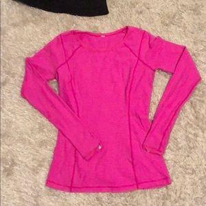 Lululemon hot pink long sleeve top